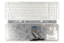 HP Pavilion DV6-1000, DV6-2000 gyári új magyar fehér laptop billentyűzet, 530579-211