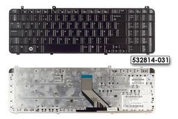 HP Pavilion DV6-1000, DV6-2000 gyári új UK angol fényes fekete billentyűzet (532814-031)