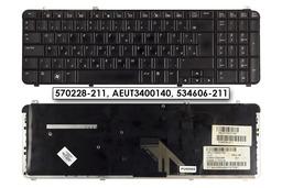 HP Pavilion DV6-1000, DV6-2000 használt magyar fekete laptop billentyűzet, 570228-211