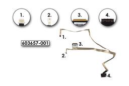 HP Pavilion DV6-3000, DV6T-3000, DV6Z-3000 sorozatú laptopokhoz gyári új LCD kijelző kábel (603657-001)