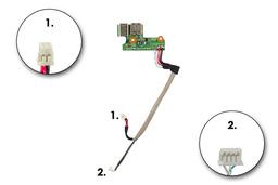 HP Pavilion DV6000 laptophoz használt DC-jack és USB panel kábellel (431445-001)(DDAT8APB2002508)