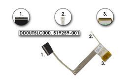 HP Pavilion DV7-2000, DV7-3000 gyári új laptop LCD kijelző kábel, DD0UT5LC000, 519259-001