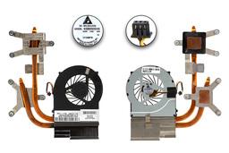 HP Pavilion DV7-4000, DV6-3000 (AMD CPU) használt laptop hűtő ventilátor egység, 622029-001