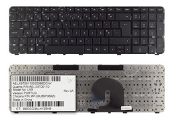 HP Pavilion DV7-5000 fekete portugál laptop billentyűzet