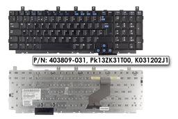 HP Pavilion DV8000 sorozat használt UK angol laptop billentyűzet (403809-031, Pk13ZK31T00)