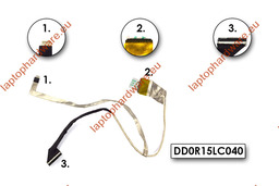 HP Pavilion G6-1000, G6-1100 használt LCD kijelző kábel, DD0R15LC040, DD0R15LC050, DD0R15LC000