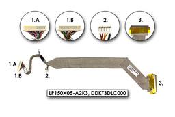 HP Pavilion ZE5300, ZE5375 laptophoz használt Kijelző kábel (LP150X05-A2K3)