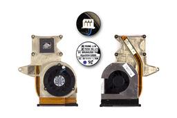 HP Pavillion DV2000, Presario V3000 laptophoz használt komplett hűtő ventilátor egység (SPS: 430463-001)