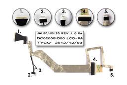 HP Pavilon DV4 gyári új laptop LCD kijelző kábel (DC02000IO00)