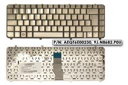 HP Pavilon DV5 gyári új UK angol kávé színű laptop billentyűzet, AEQT6E00230, 9J.N8682.P0U