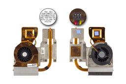HP ProBook 4410s, 4510s, 4710s használt laptop hűtő ventilátor egység (535767-001, 535766-001)