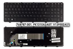 HP ProBook 450, 470 használt US angol laptop billentyűzet, 768787-001