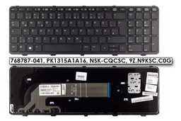 HP ProBook 450 G2, 455 G2, 470 G2 gyári új német laptop billentyűzet (768787-041)