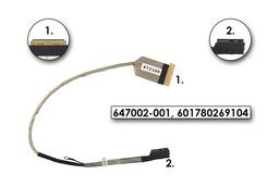 HP ProBook 4330s, 4430s, 4530s gyári új LCD kijelző kábel (15.6''), 654319-001, 647002-001, 646996-001