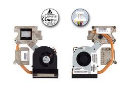 HP ProBook 4520s, 4720s gyári új komplett laptop hűtés (Discrete) (598677-001, KSB0505HB-9H58, 603865-001, 6H.4GKHS.002)