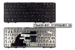 HP ProBook 640 G1, EliteBook 840 G1 gyári új US angol laptop billentyűzet (736653-B31)