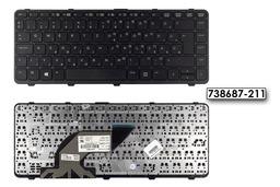 HP Probook 640 G1 gyári új magyar fekete laptop billentyűzet, (738687-211)