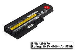 Lenovo ThinkPad T500 laptop akkumulátor, gyári új, 6 cellás (4700mAh)