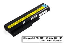 Lenovo ThinkPad T61 laptop akkumulátor, új, gyárival megegyező minőségű helyettesítő, 6 cellás (4400mAh)