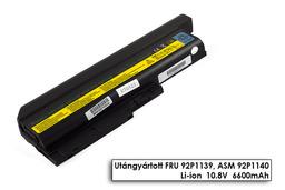 Lenovo ThinkPad T61 laptop akkumulátor, új, gyárival megegyező minőségű helyettesítő, 9 cellás (6600mAh)