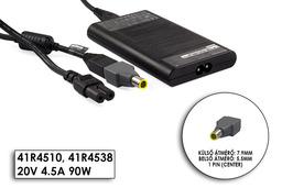 IBM Lenovo ThinkPad 20V 4.5A 90W gyári új autós repülős és hálózati laptop és telefon (USB)  töltő, 41R4510, 41R4538