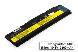 IBM Lenovo ThinkPad X300, X300s, X301 helyettesítő új 6 cellás laptop akku/akkumulátor (43R1967, 42T4643)