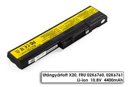 IBM ThinkPad X20, X21, X22, X23, X24 helyettesítő új 6 cellás laptop akku/akkumulátor (FRU 02K6761)
