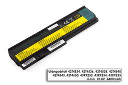 Lenovo ThinkPad X200s laptop akkumulátor, új, gyárival megegyező minőségű helyettesítő, 6 cellás (4400mAh)