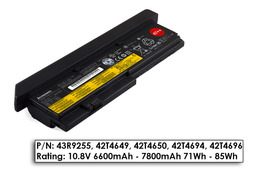 Lenovo ThinkPad X200s laptop akkumulátor, gyári új, 9 cellás (6600-7800mAh)