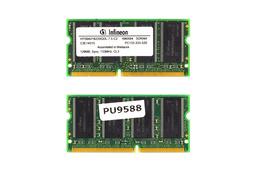 Infineon 128MB SDRAM 133MHz használt laptop memória (HYS64V16220GDL-7.5-C2)