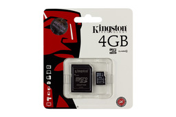 Kingston 4GB Class 4 MicroSD kártya + adapter (SDC4/4GB)