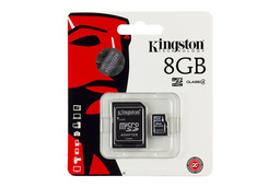 Kingston 8GB Class 4 MicroSD kártya + adapter (SDC4/8GB)