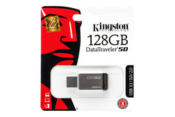 Kingston DataTraveler 50 128GB USB 3.1 ezüst-fekete pendrive (DT50/128GB)