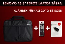 Lenovo 15.6 fekete laptop táska + Lenovo M300 USB-s fekete egér + Lenovo P165 fülhallgató