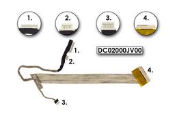 Lenovo 3000 N500, G530 laptophoz használt LCD átvezető kábel(15,4 inch) (DC02000JV00)
