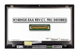 Lenovo Flex 2-14  gyári új fényes 14.0'' Full HD (1920x1080) eDP laptop Slim kijelző modul (N140HGE-EAA rev:C1, FRU: 04X5883, 00HN821, B140HTN01.1 HW:0A, FW:1)