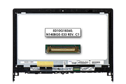 Lenovo Flex 2-14D gyári új fényes 14.0'' WXGA HD (1366x768) eDP laptop Slim kijelző modul kerettel (5D10G18360, 5D10H56753)