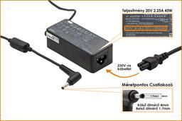 Lenovo IdeaPad 20V 2.25A 45W gyári új laptop töltő (ADLX45DLC3A)