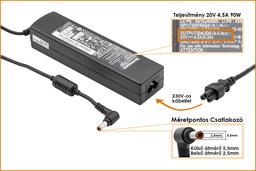 Lenovo IdeaPad G570 20V 4.5A 90W-os laptop töltő