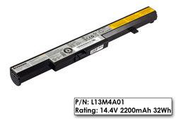 Lenovo IdeaPad  B40-30, B50-30, N50-30 4 cellás használt 100%-os laptop akku/akkumulátor (L13M4A01)