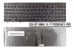 Lenovo Ideapad B570, V570, Z570 gyári új francia laptop billentyűzet, 25-011884