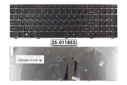 Lenovo Ideapad B570, V570, Z570 gyári új US angol szürke keretes laptop billentyűzet, 25-011853