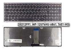 Lenovo IdeaPad Flex 15, G500s, S510p gyári új magyar fekete-szürke billentyűzet (25212991)
