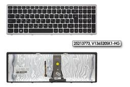 Lenovo IdeaPad Flex 15, G500s, S510p gyári új magyar háttér-világításos fekete-szürke billentyűzet (25213773, V136520SK1-HG)