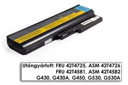 Lenovo IdeaPad G430, G530, G550, N500 helyettesítő új 6 cellás laptop akku/akkumulátor (42T4581)