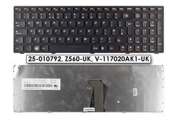 Lenovo Ideapad G570, G575, Z560 gyári új fekete keretes UK angol laptop billentyűzet, 25-010792