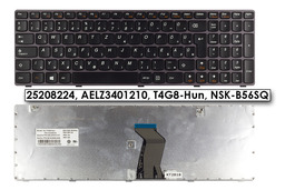 Lenovo IdeaPad G580, G585 gyári új magyar fekete-lila billentyűzet (25208224)