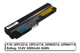 Lenovo IdeaPad S10-3, M13 használt 90%-os, 6 cellás helyettesítő laptop akku/akkumulátor (L09C3Z14)