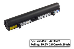 Lenovo IdeaPad S10, S10e használt 75%-os, 3 cellás laptop akku/akkumulátor (42T4591)