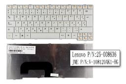 Lenovo IdeaPad S12 gyári új magyar fehér laptop billentyűzet (25-008636)
